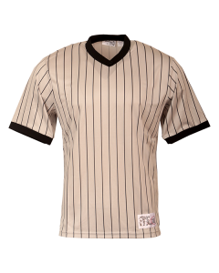 B18 - Gray Pinstripe V-Neck Shirt