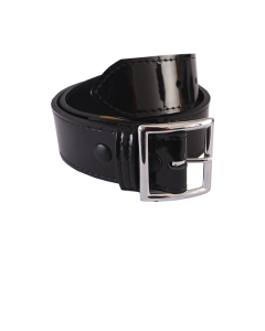 B28 - Black Patent Leather Belt