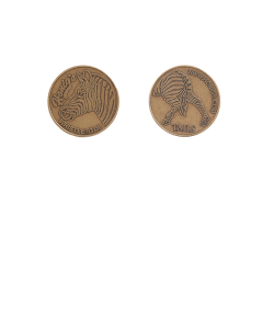 Coin - Head/Tails Zebra Flipping Coin (Coin)
