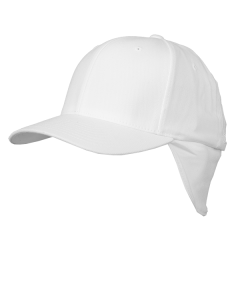 F34W - Cold Weather Flexfit Cap With Earflaps White