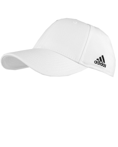 F36ADW - White Adidas Flexfit Officiaring Caps