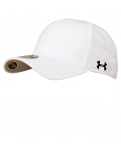 F36UAW - White Under Armour Flex Fit Football Hat