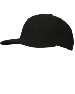 K02LB - Black Fitted Base Hat - 8 Stitch