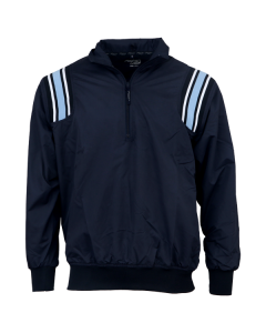 K17LB - Honigs Major League Style Jacket Navy / Light Blue strip