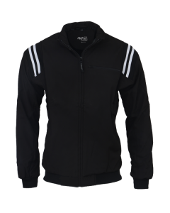 K17ZB - Honig's Thermal Zip-Up Cold Weather Jacket Black With White Stripes