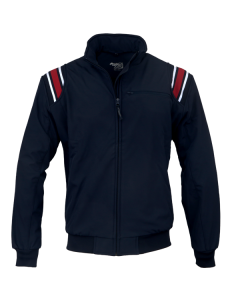 K17ZN - Honig's Thermal Zip-Up Cold Weather Jacket Navy With Red and White Stripes