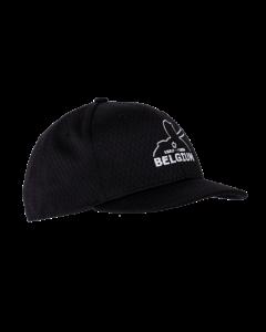 KPM3B-BEL - Black Pro Mesh Baseball Combo Cap 4 Stitch