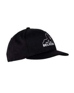 KPM3B-BEL-Black Pro Mesh Combo Cap 4 Stitch