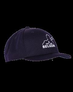 KPM3N-BEL - Navy Pro Mesh Baseball Combo Cap 4 Stitch