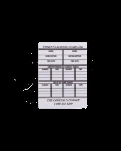 LCPW - Women's Lacrosse Plastic Info Card (LCPW)