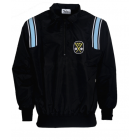 K17ZPB-SWE-Honig's Thermal Zip-Up Cold Weather Jacket Black With Polo Blue & White Stripes