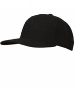 K02LB-DBV-Black Fitted Base Hat-8 Stitch (K02LB-DBV)