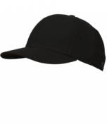 K02SB-DBV-Black Fitted Base Hat-6 Stitch (K02SB-DBV)