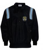 K17PB-SWE-Honigs Major League Style Jacket Black with Polo Blue and White Stripes